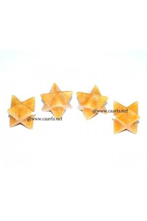 Golden Quartz Gemstone Merkaba Star