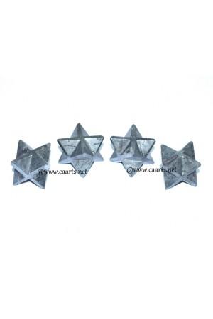 Hematite Gemstone Merkaba Star