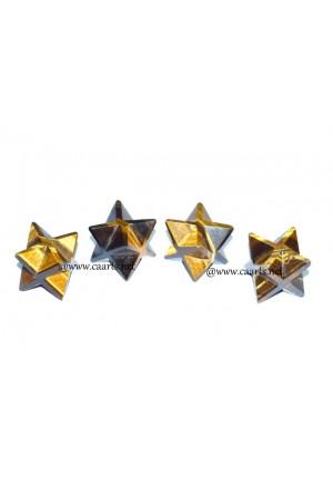 Tiger Eye Gemstone Merkaba Star