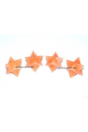 Red Aventurine Gemstone Merkaba Star
