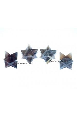 Multi Fluorite Gemstone Merkaba Star