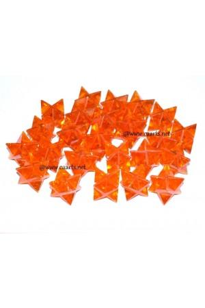 Red Coral Gemstone Merkaba Star