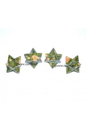 Unakite Gemstone Merkaba Star