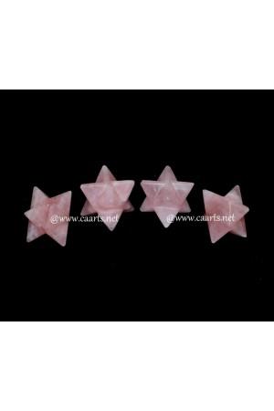 Rose Quartz Gemstone Merkaba Star