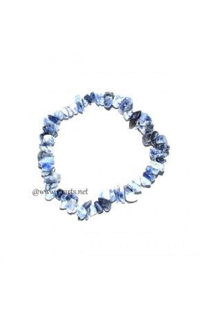 Sodalite Gemstone Chips Bracelet