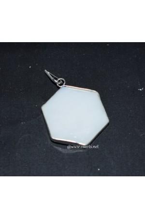 White Agate SOD Frame Pendant