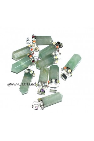 Green Aventurine 7 Chakra Point Pendant