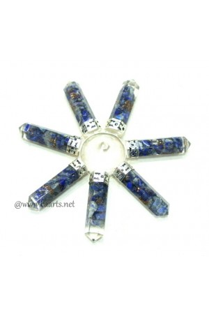 Orgone Lapis 7 Point Crystal Conical Energy Generator