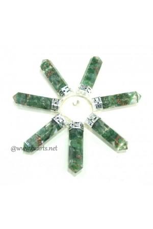 Orgone Green Aventurine 7 Point Crystal Conical Energy Generator