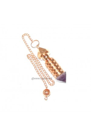 Copper Plated Isis W/ Amethyst Point Metal Pendulum