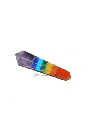 7 Chakra Double Point Vogel Loose Wand